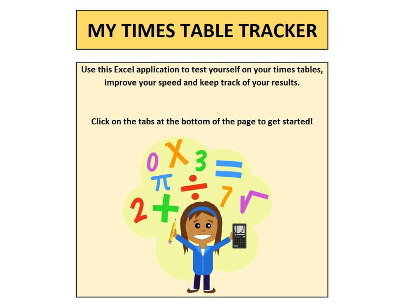 Times Tables Tracker (for new Y6 times table tests)
