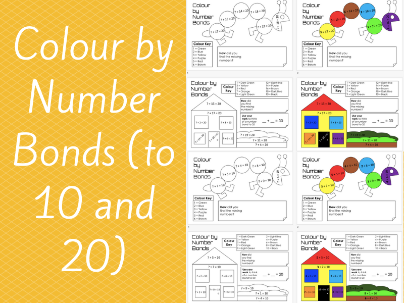 Colour by Number Bonds (to 10 and 20)