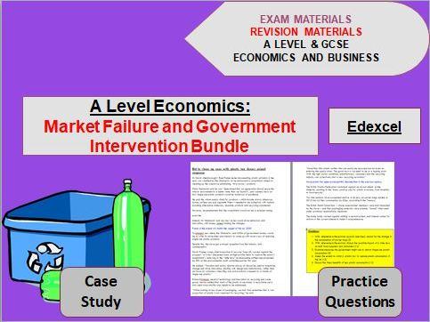 Market Failure and Government Intervention Bundle