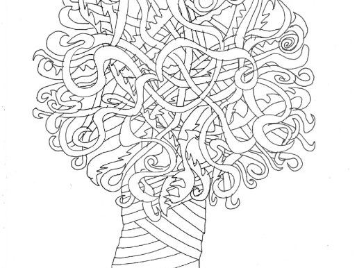 Tree: Colouring Page
