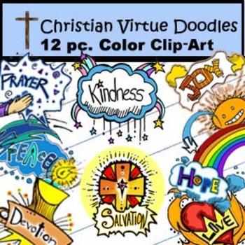 Christian Doodles Clip-Art: 12 Pieces