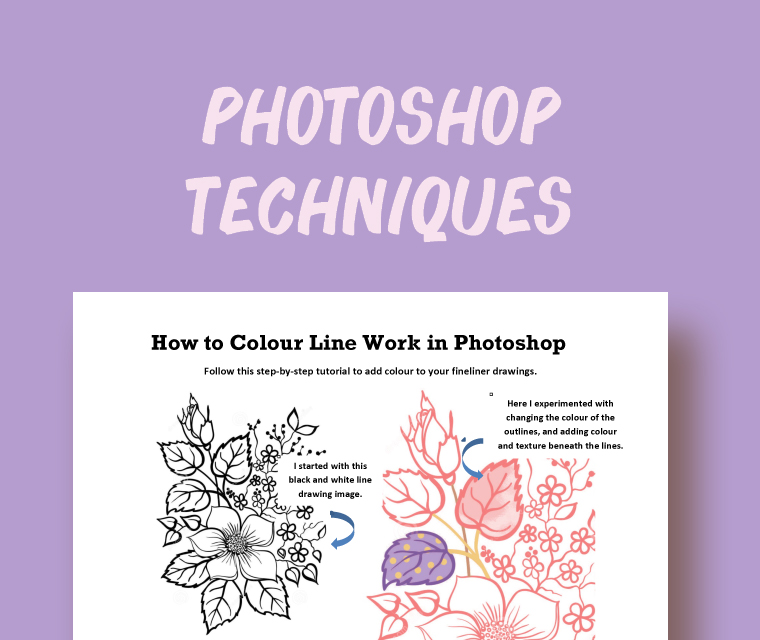 Photoshop Techniques: How to Colour Linework
