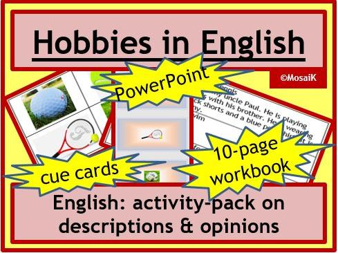ESL, English: Hobbies and Free Time