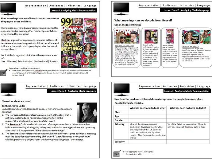 Reveal GCSE Media Studies Magazine CSP