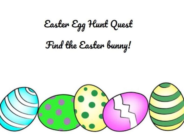 Easter Egg Hunt Quest - find the Easter bunny!