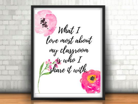 Teacher Gift, Poster, Teacher Art