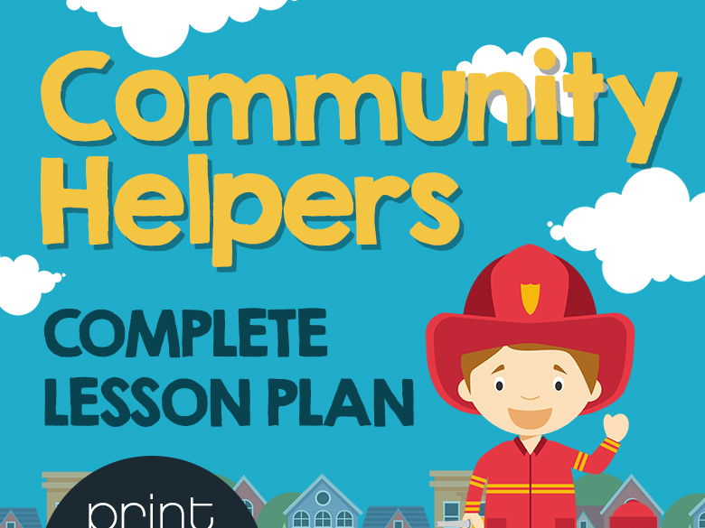Community Helper Full Lesson Plan - PowerPoint, Worksheets, Games