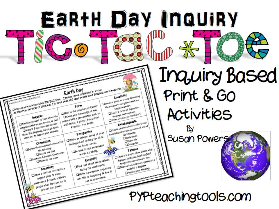 Earth Day Tic Tac Toe Enquiry Activity