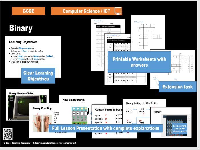 Binary - GCSE / iGCSE Computer Science  - Full Lesson