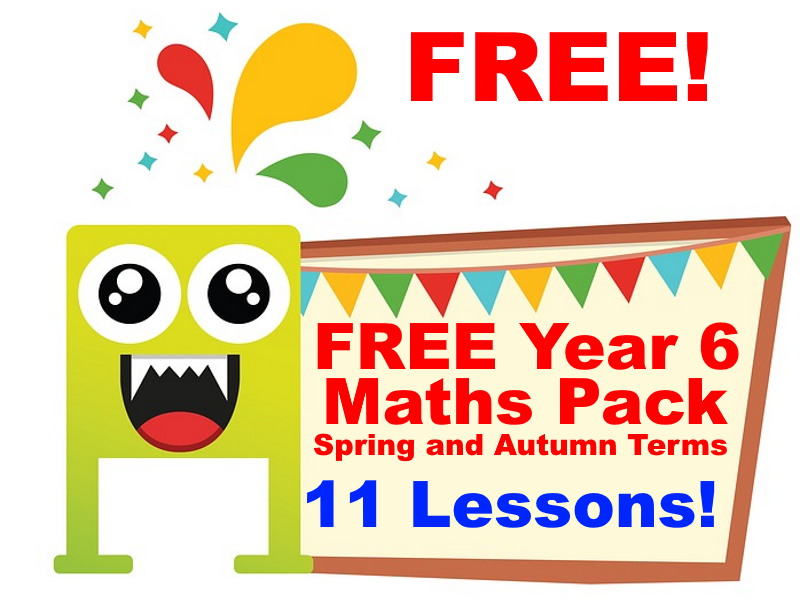 FREE Year 6 Maths Pack (Spring and Autumn Terms) - Booster and Revision Course.