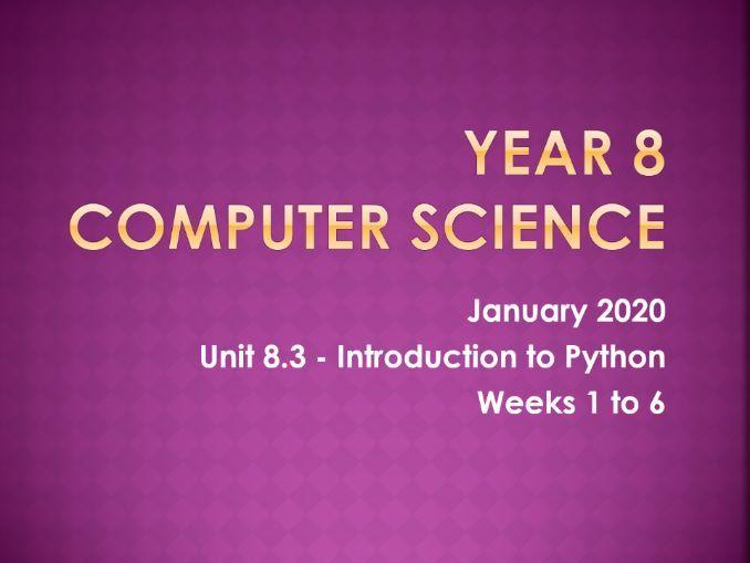 Programming in Python (6 weeks)