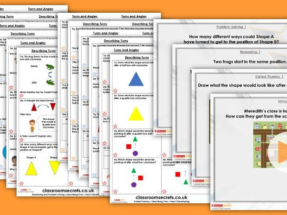 FREE Year 3 Turns and Angles Summer Block 3 Step 1 Maths Lesson Pack