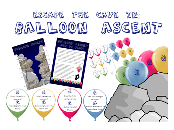 Balloon Ascent: The Board Game: Christianity Beliefs, Teachings and Practices Revision!