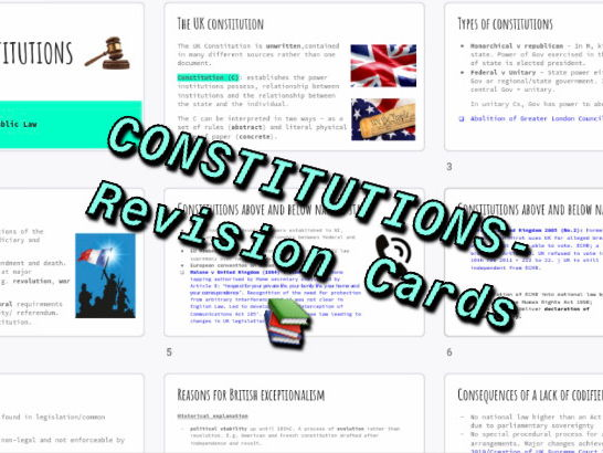 Constitutions Revision Cards