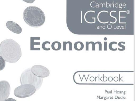 Economics of IGCSE/Olevel workbook (with answer booklet!)