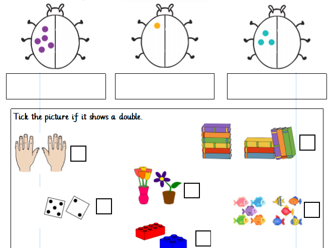 Doubling Numbers to 20 Year 1 Differentiated Worksheets (White Rose)