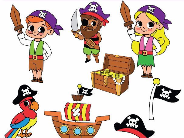 Pirate Clipart Pirate Clip Art by alinavdesign | Teaching ...