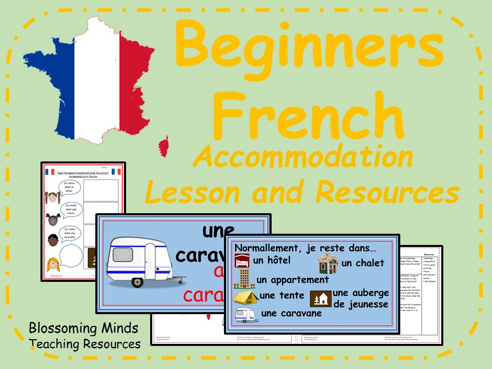 French lesson and resources - KS2 - Holiday/Vacation Accommodation