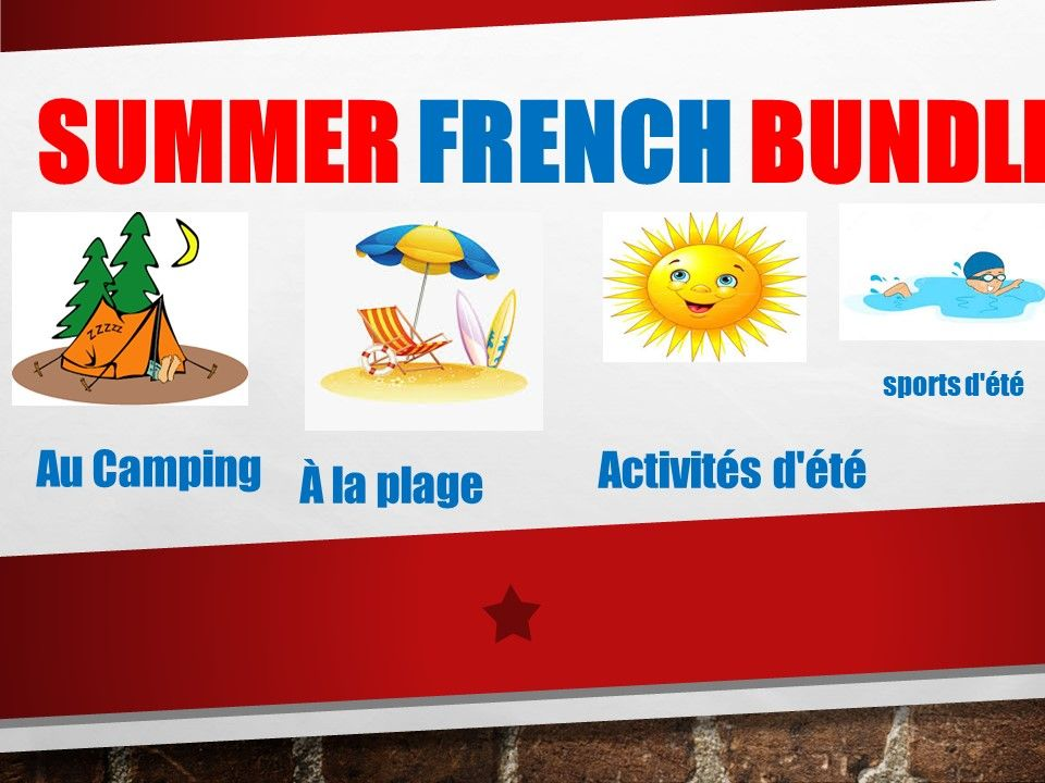 All about French Summer Bundle activities for distance learning.