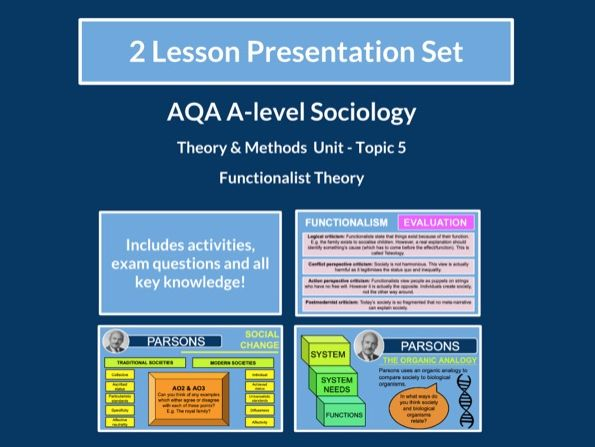 Functionalist Theory - AQA A-level Sociology - Theory and Methods - Topic 5