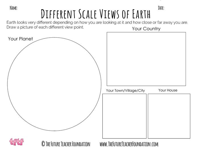 KS2 Our World - KS2 Planet Earth - Different Views and Scales - KS2 Art, KS2 Geography, KS2 Poetry