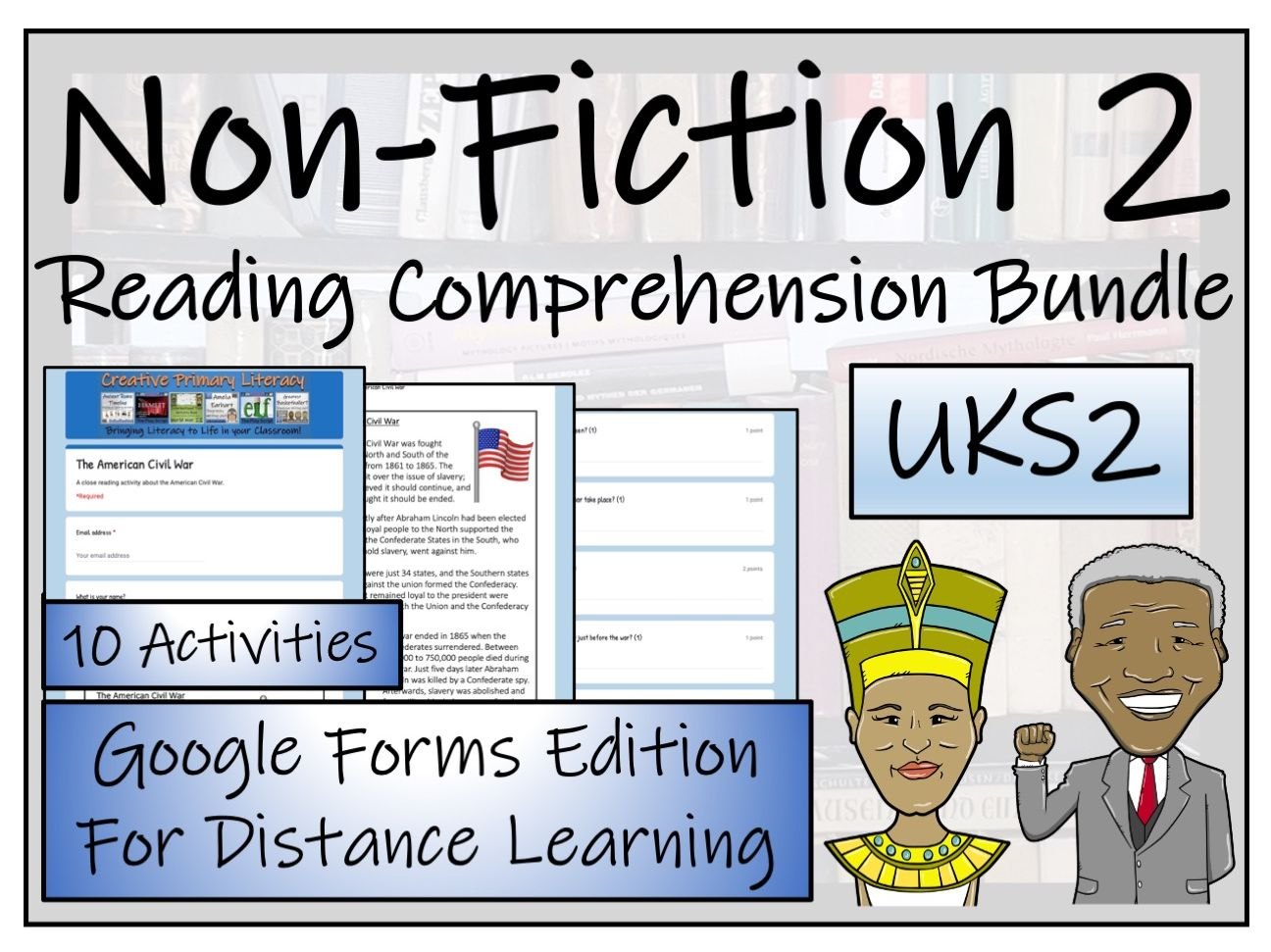 UKS2 Non-Fiction Collection; Volume 2 - Reading Comprehension & Distance Learning Bundle