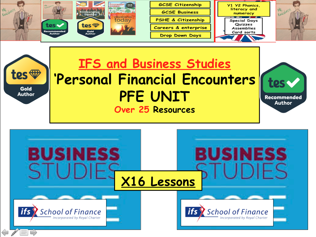 x 12 lessons with all resources PFE: Personal Financial Encounters IFS