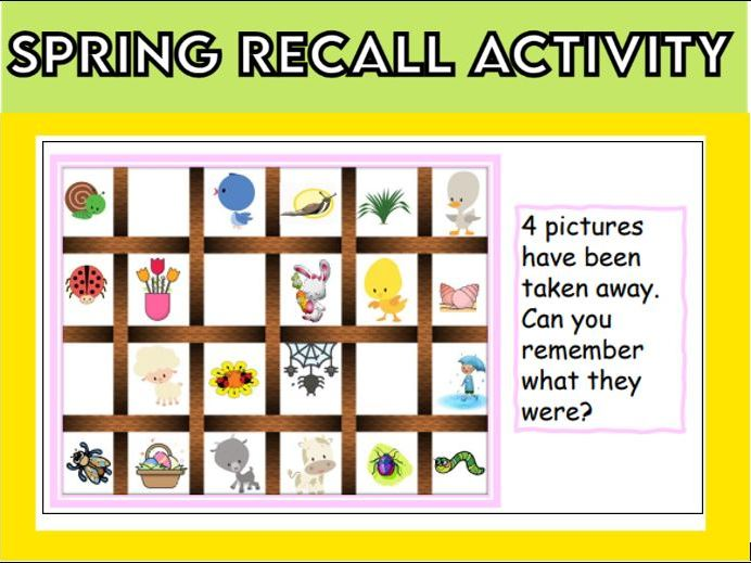 Spring Recall Activity KS1