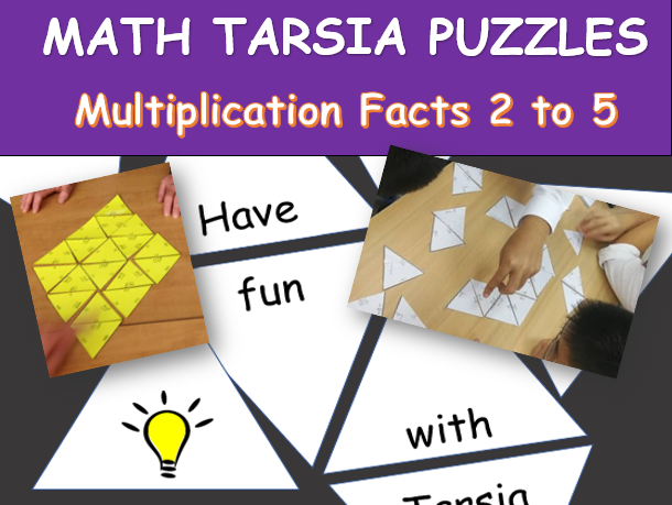 MATH TARSIA PUZZLE (Multiplication Facts 2 to 5)