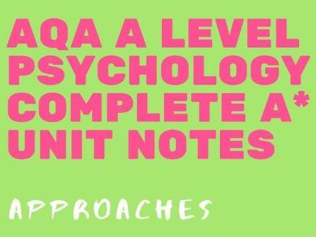 AQA A Level Psychology - Approaches bundle