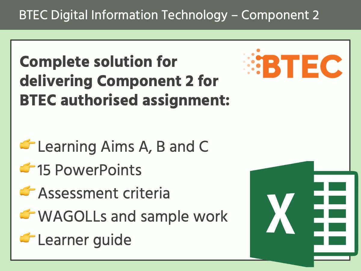 BTEC Digital Information Technology: Component 2
