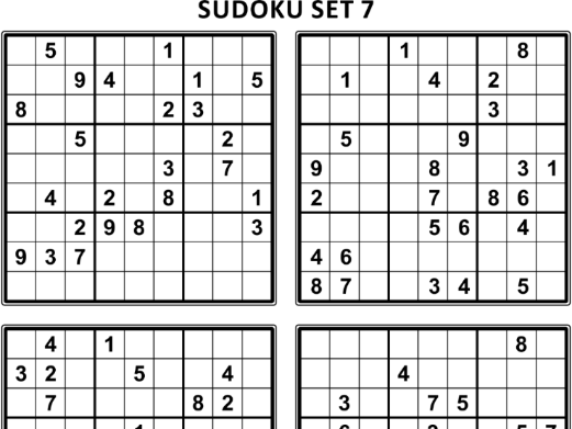 Free Sudoku Puzzles, Set 7