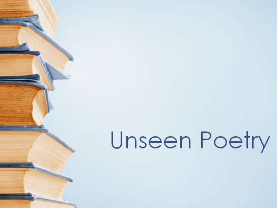 AQA A-Level English Unseen Poetry Lesson and Sample Question