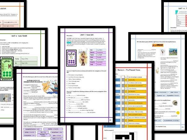 Spanish Grammar KS4 EDITABLE with TESTS
