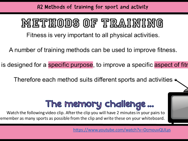 Methods of Training - Introduction