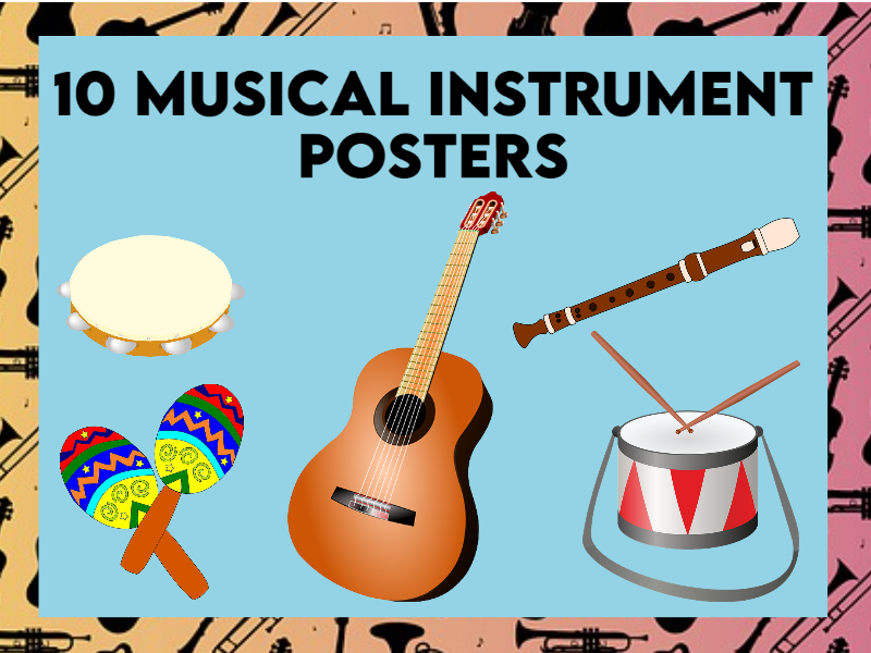 10 Musical Instrument Posters