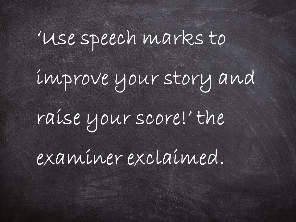 Speech marks / dialogue / direct speech