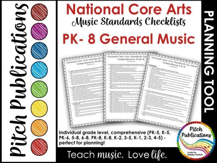 National Core Arts Standards - Music Standards - Checklist for Lesson Plans K-5