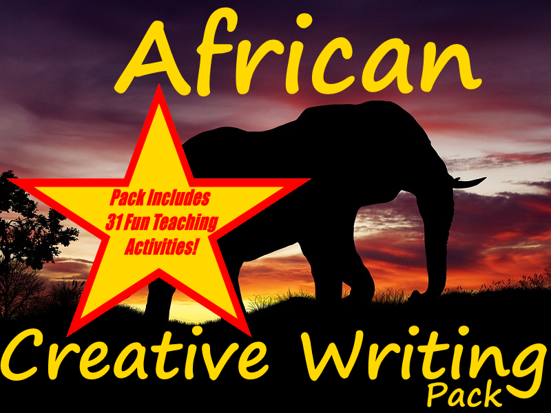 African Visual Writing Prompts + 31 Fun Teaching Activities + Life in Africa Presentation