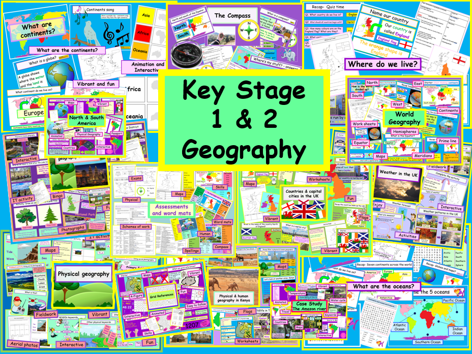 Geography Primary KS1 & KS2 Whole National Curriculum