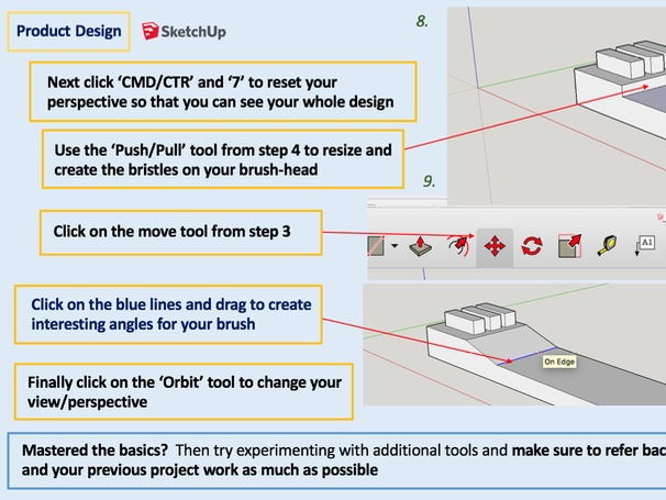 Product Design - SketchUp CAD Modelling (Full Iterative Design Process L4) KS3 KS4