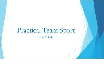 BTEC Sport: Practical Team Sports (Full unit with PowerPoint, worksheets & Unit Plan)