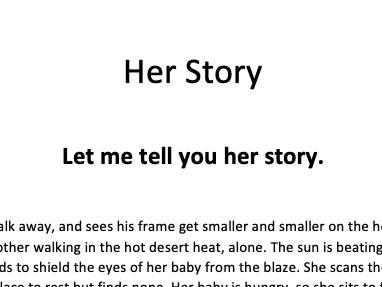Creative Writing Piece- Her Story- Hajj