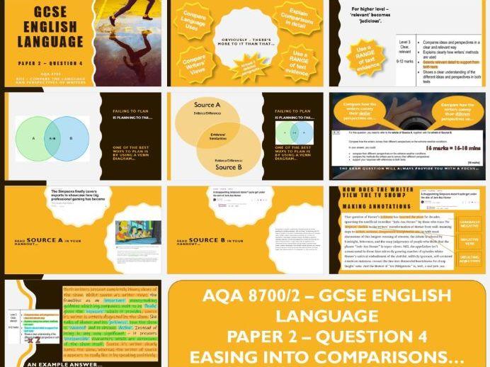 AQA 8700/2 GCSE English Language Comparing Articles