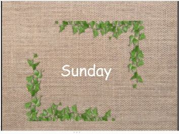 Days of the week (Natural)