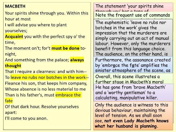 Macbeth: Annotated Act Three