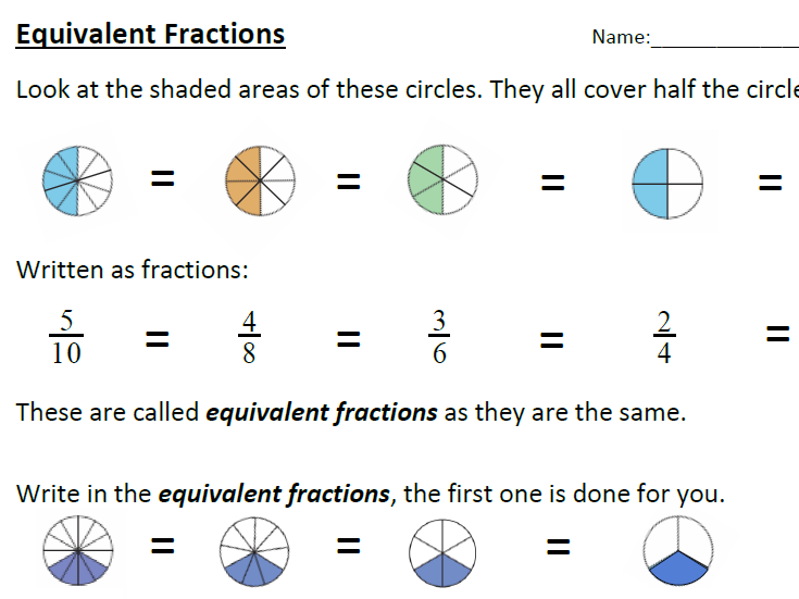 Equivalent Fractions by Mel_Q - Teaching Resources - Tes