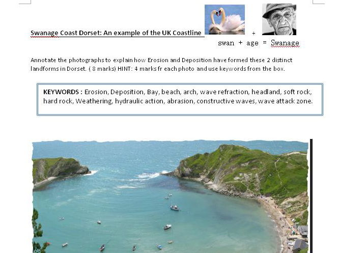 UK coastline features, Swanage Bay skills
