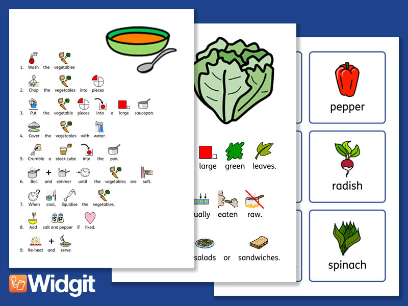 Vegetable Pack with Widgit Symbols