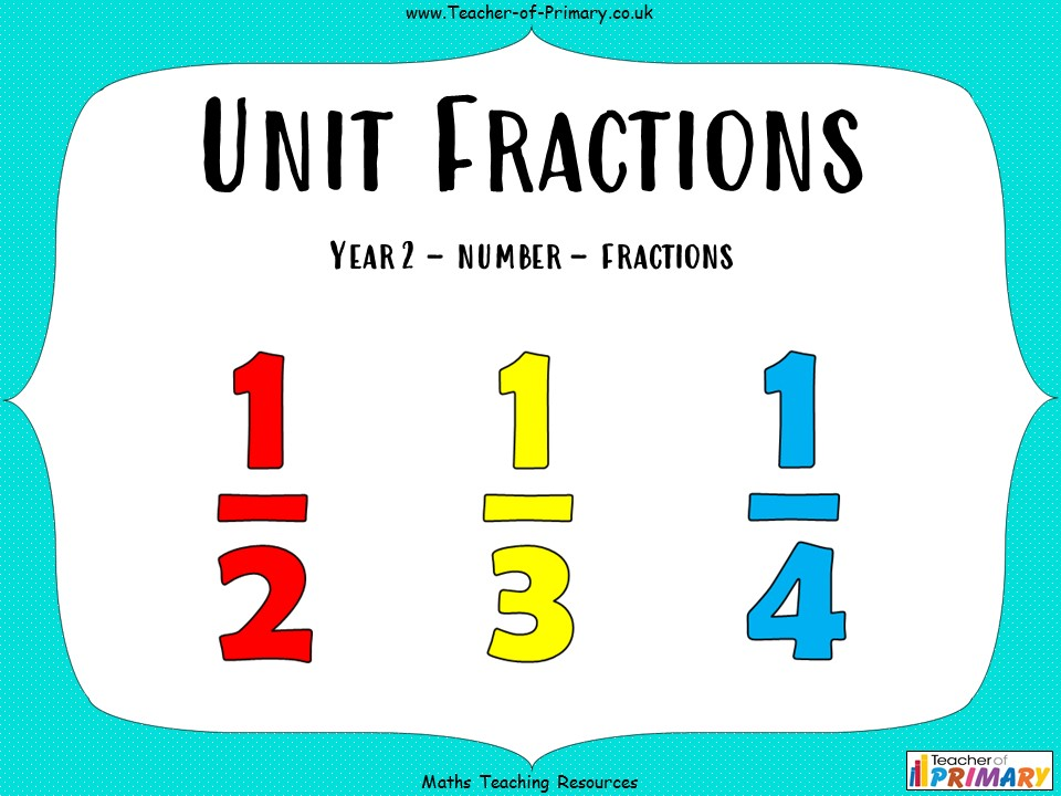 Unit Fractions - Year 2
